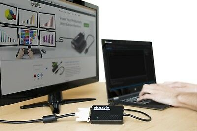 External USB 3.0 to VGA DVI HDMI Adapter Video Graphics Support Multiple Monitor