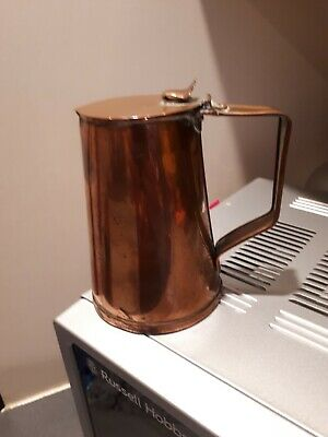 Joseph Sankey Copper Jug with Lid, Arts n Crafts. Stands 5inches tall.