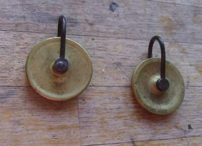 Antique  Pair Of Longcase / Grandfather  Clock  Brass Pulleys