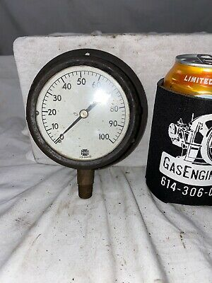USG Pressure Regulator Gauge Steampunk Industrial 100 PSI