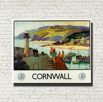 Great Western Railway Vintage Advertising Travel Poster Cornwall Print A4