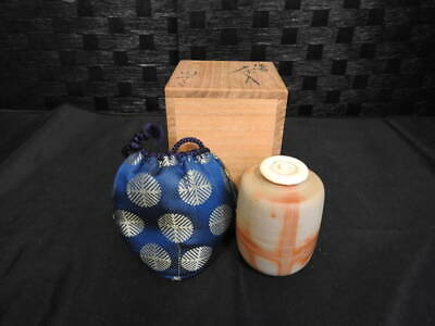 Tea Caddy Ceremony Chaire Sado Japanese Traditional Crafts t678