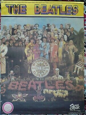 Poster. The Beatles. Sgt. Pepper's Lonely Hearts Club Band. 1989. Russia, USSR.