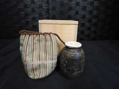 Tea Caddy Ceremony Chaire Sado Japanese Traditional Crafts t682