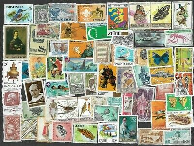 1000 Mint only Worldwide stamp collection medium to large size-Good thematics