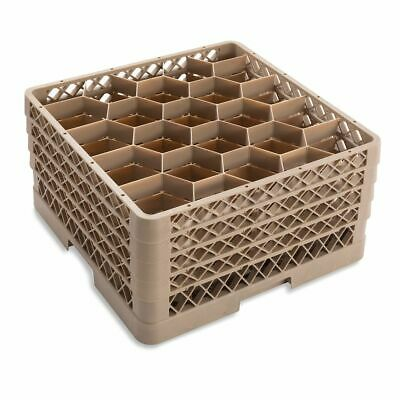 Traex TR11GGGG Beige 20 Compartment Glass Rack with 4 Extenders