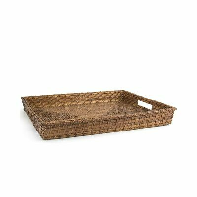 "FOH BPT019BRW22 Brown 19"" Rattan Tray"
