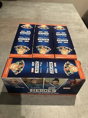 Full Box Sainsburys Heroes Cards Pixar Marvel Disney Star Wars Approx 180 Packs.