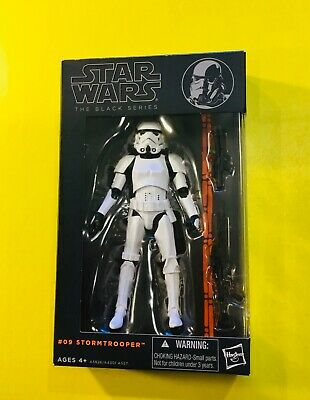 Hasbro Star Wars The Black Series #09 Stormtrooper Action Figure AUTHENTIC