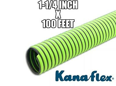 "1 Roll of 1-1/4"" Kanaflex 300 EPDM Green Septic & Water Suction/Discharge Hose"