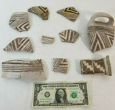 Mogollon Native Prehistoric Anasazi Pottery Bowl Pot Fragments Pieces New Mexico