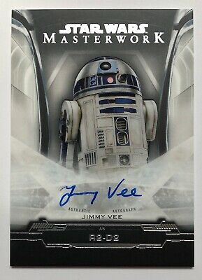 2019 TOPPS STAR WARS MASTERWORK JIMMY VEE as R2-D2 AUTOGRAPH AUTO
