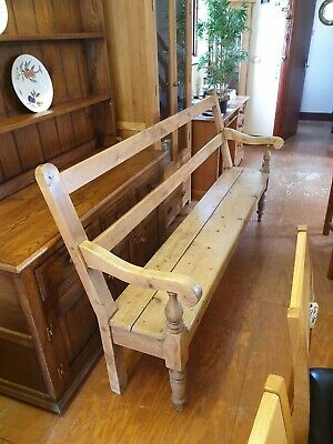 19th Century 7ft/1.99 meter open backed Pine Settle / Bench. Great condition
