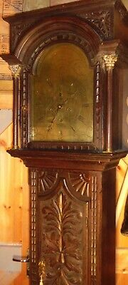 "Antique Carved Oak "" Edinburgh ""  Eight  Day   Longcase / Grandfather  Clock"