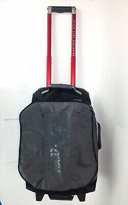 The North Face Rolling Thunder 22in Carry-On Bag Suitcase Black Red Wheels