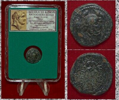 Ancient GREEK Coin Seleucid King ANTIOCHOS I SOTER Athena and Nike Bronze