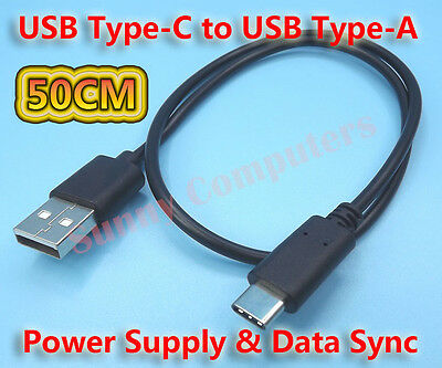 50CM USB Type-C Adapter Cable Power Charger Cord For Samsung Galaxy A50 A51 Lead
