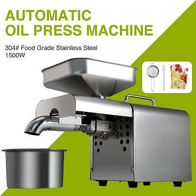 1500W Commerical Oil Press Machine Oil Extraction Extractor Expeller Cold Press
