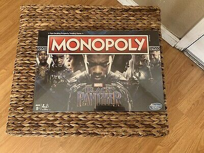Monopoly Game: Black Panther Edition 630509784639 New In Sealed Box By Hasbro