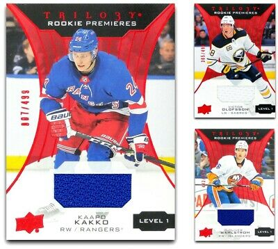 2019-20 Trilogy Rookie Premieres Jersey Red *** PICK YOUR CARD *** From The LIST