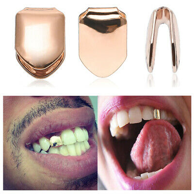 Trendy Rock Unisex Teeth Mold Kit Hip Hop Single Tooth Caps Solid Grillz Grill