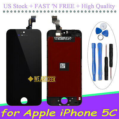 OEM Screen LCD Digitizer Touch Display Lens Replacement For  iPhone 5C Black US