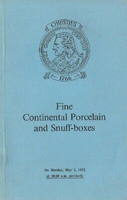 Christies May 1973 Fine Continental Porcelain & Snuff-Boxes