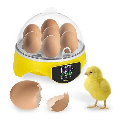 Egg Incubator Hatching Machine Breeder Professional Chicken Eggs Hatcher 7 Eggs