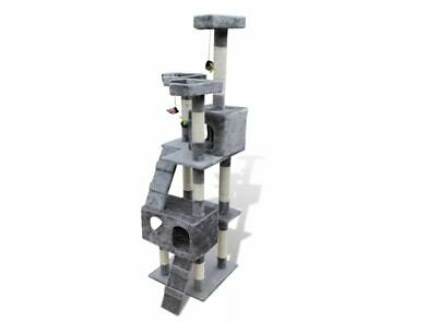 vidaXL Cat Tree Cat Scratching Post 67 inch 2 Condos, Grey