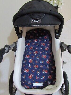 Pram bassinet liner-Bunches of roses-Fits all pram bassinets
