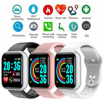 Smart Watch Band Sport Activity Fitness Tracker For Kids Fit bit Android iOS UK