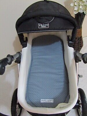 Pram bassinet liner-Blue dots-Fits all pram bassinets