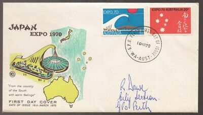 1970 Australia EXPO Japan Osaka Addressed but Unsealed WCS FDC - See Text