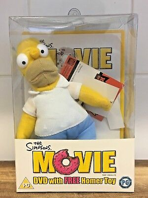 The Simpsons Movie DVD with Homer Toy Rare Limited Edition
