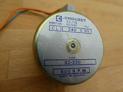 Michell Transcriptor Turntable Crouzet 240V Synchronous Motor New Old Stock