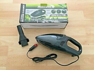 Portable Car Vacuum Cleaner 12v, Compact, Lighter Plug, 2.7m Power Cord-Montoya
