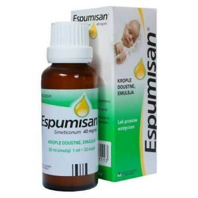 2 packs * 30 ml Espumisan Baby Drops Baby Colic, Stomach Aches, Bloating