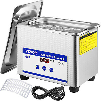 0.8L Ultrasonic Cleaner Digital Sonic Cleaning Equipment Stainless Steel