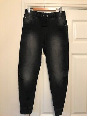 Boys Tesco F&F Jeans Joggers Age 12-13 Years Black Worn Once
