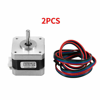 Metal Nema 17 Stepper Motor 0.4A 4 Wires Cable Silver For 3D Printer CNC Reprap