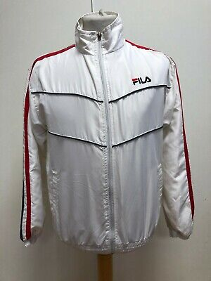 G78 Boys Fila White Blue Red Stripes Tracksuit Jacket Uk Xlb Age 15-16 Years