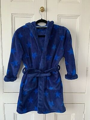 Next Boys Star Print blue Fleece dressing gown   Age 6yrs - great condition.
