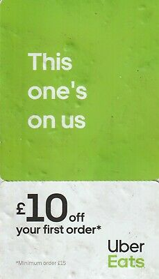 Uber Eats £10 off voucher when you spend £15 on first order - valid until 29 Feb