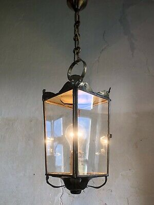 Antique French Lantern Light - Repousse Brass. Art Nouveau / Early 20th Century