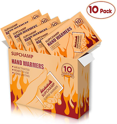 Supchamp Hand Warmers, 10 PCS Disposable Hand Pocket Glove Warmers, Up to 10 of