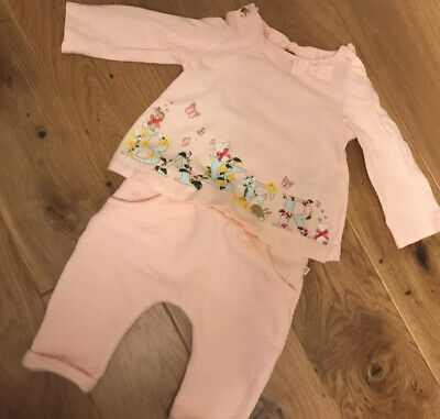 Ted Baker Pink Baby Girls Outfit Age 3-6 Months Excellent Condition