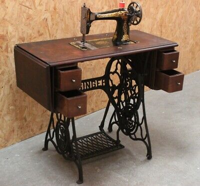 Antique Singer 127k Treadle Sewing Machine c1912 [5798]