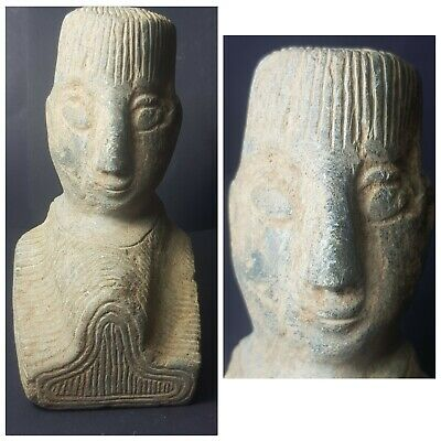 Very old bactrian rare chloride stone statue