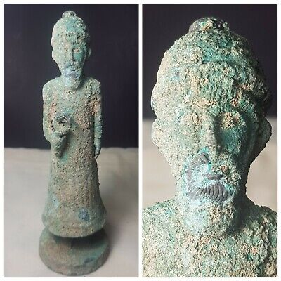 Old late sasanian king  old bronze  statue
