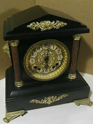 Antique Ansonia  Mantle Clock  with Jaunch Clock  Mechanism
